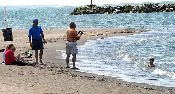 Lakeview Park beach in Lorain on June 18.  Steve Manheim